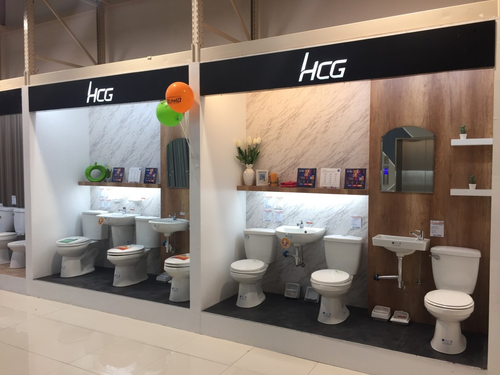 HCG's variety of items is displayed in the showroom. This also includes tagged items in our latest promo, Mix, Match, and Save