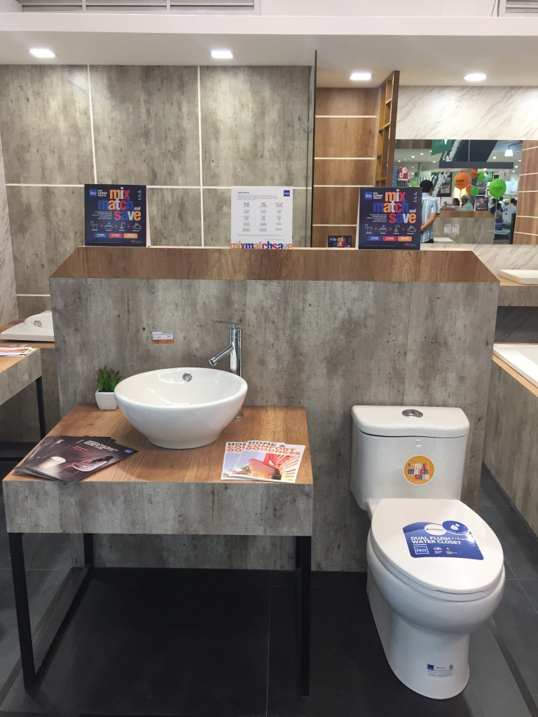 Water saving and space saving bathroom items are also available in the said showroom. Some of these are also tagged in our latest promo.
