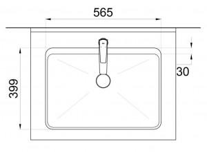 Verge Counter top wash basin